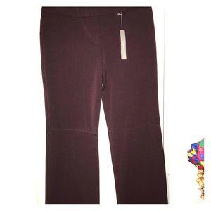 burgundy loft pants